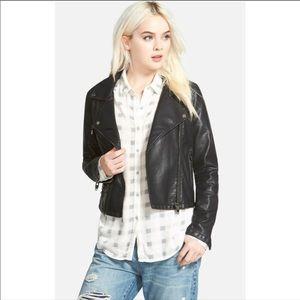BlankNYC Faux Leather Moto Biker Jacket Sz Small